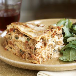 Mushroom, Sausage and Roasted Red Pepper Lasagna