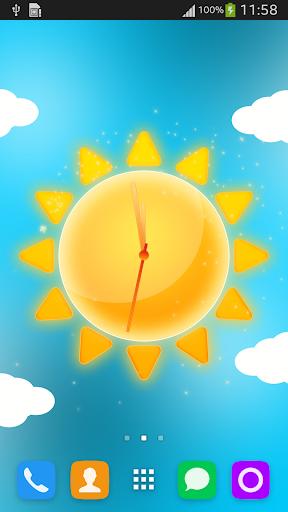 Sunny Weather Clock LWP