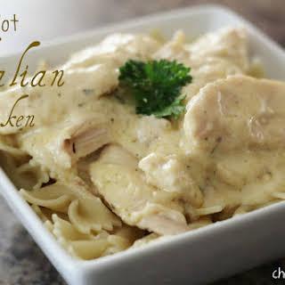 Crock Pot Italian Chicken.