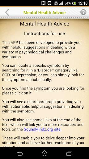 【免費健康App】Mental Health Advice-APP點子