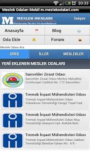 Meslek Odaları Bilgileri - screenshot thumbnail