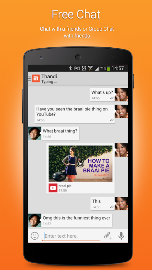 Mxit- screenshot