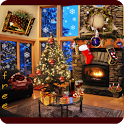 Christmas Fireplace LWP icon