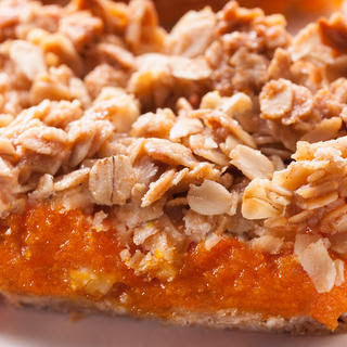 Crumbly Oat and Apricot Bars.