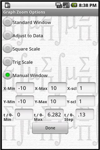 MathPac - Graphing Calculator - screenshot