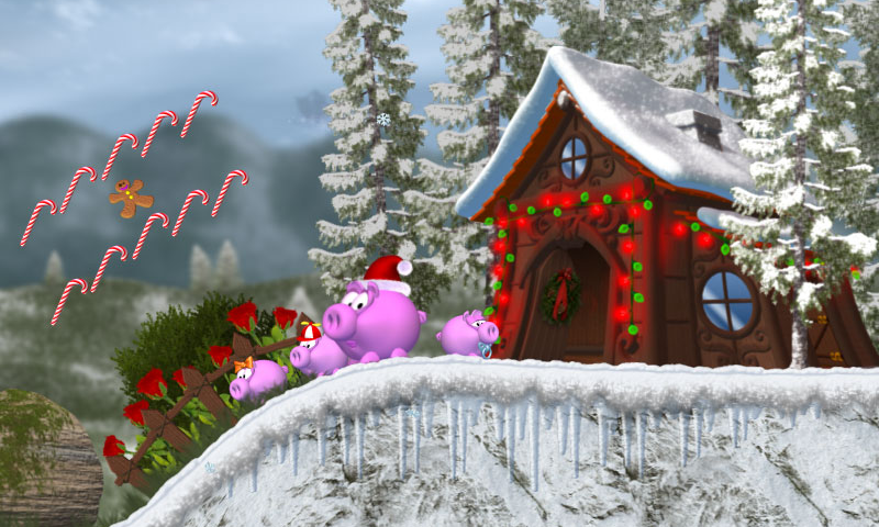 Piggly Xmas - screenshot