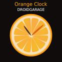 Orange Clock Widget icon
