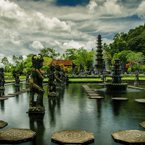 Tirtagangga Water Palace | Bali by Pavel Aberle - Buildings & Architecture Public & Historical ( water palace, water, bali, indonesia, d7000, long exposure, architecture, nikon )