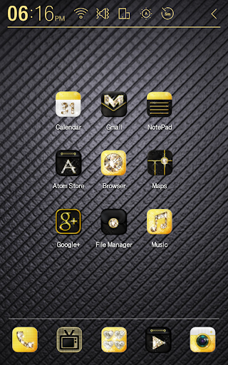 Gold Diamond Atom Theme