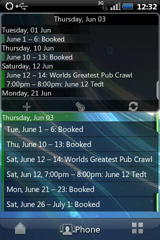 Agenda Widget for Android - screenshot