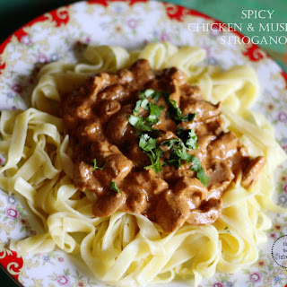Spicy Chicken and Mushroom Stroganoff