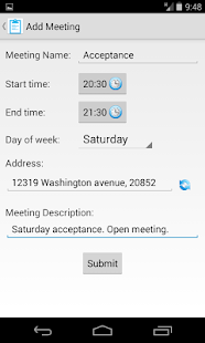 Meeting Finder- screenshot thumbnail
