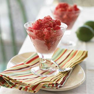 Raspberry-Champagne Granita