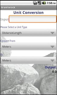 Graniterock Calculator - screenshot thumbnail