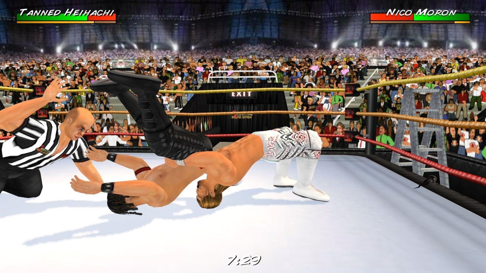 Wrestling revolution 3D for android phone