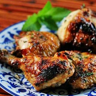 Honey Mint Glazed Chicken.