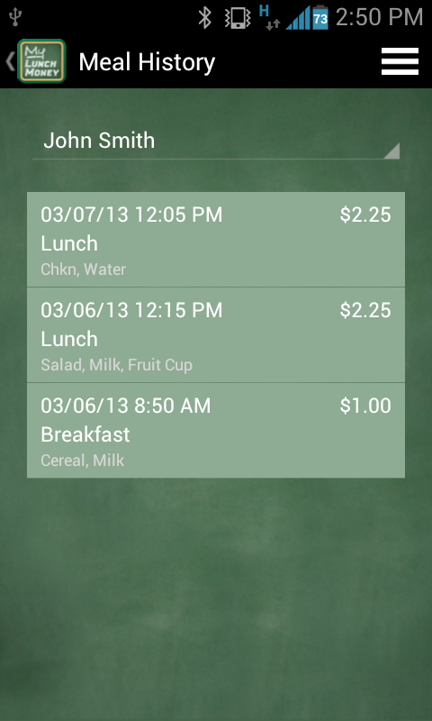 MyLunchMoney - screenshot