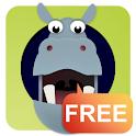 Hide & Seek Hoppo Hippo Free logo