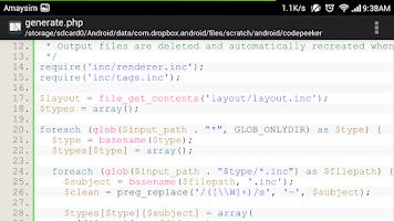 Screenshot of Code Peeker Lite Source Reader