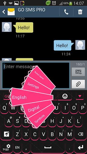 花式粉红色的键盘