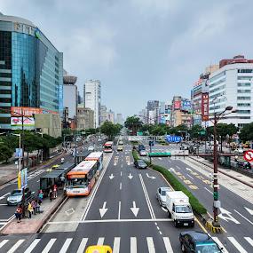 Street view of Taipei, Taiwan by Wong Koh - City,  Street & Park  Street Scenes ( ximen, taiwan, ximending, taipei, city )
