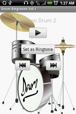 DRUM Ringtones Vol.1- screenshot