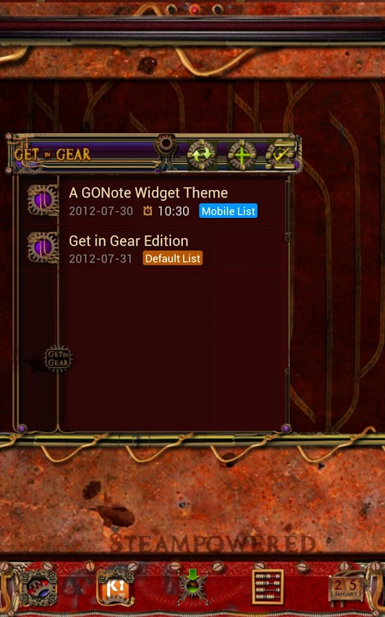 Get in Gear GO Note Theme - screenshot