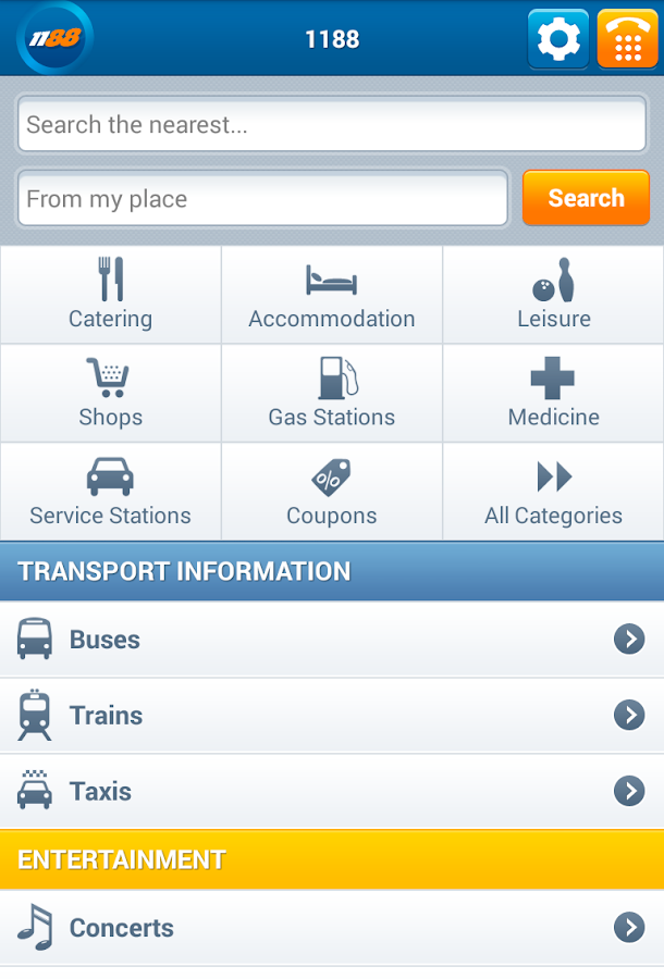 1188 Business search- screenshot