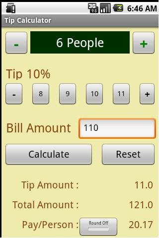 Tip Calculator- screenshot