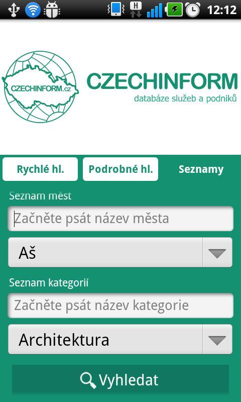 CzechInform- screenshot