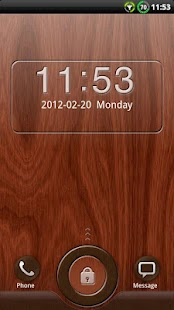 GO Locker Mahogany Wood Theme- screenshot thumbnail