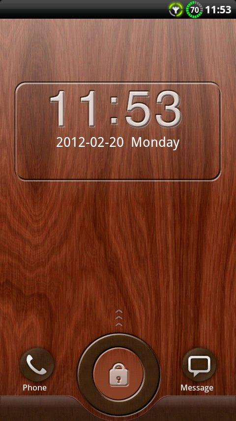 GO Locker Mahogany Wood Theme- screenshot