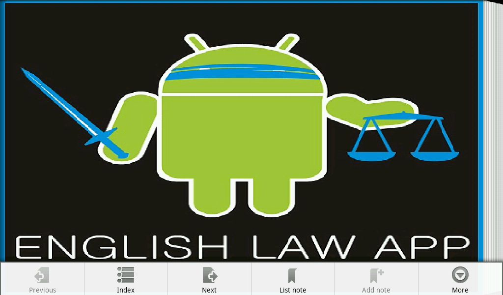 English Law App- screenshot