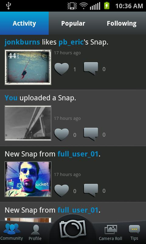 Snapbucket - screenshot