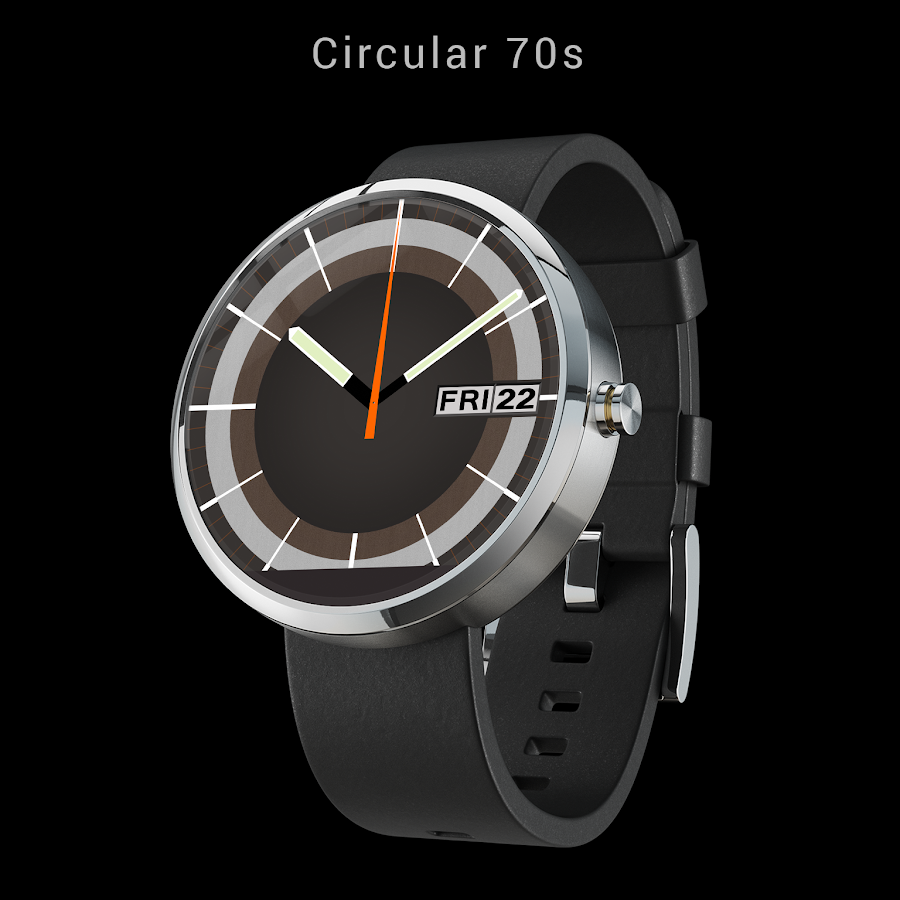 70s watchface for Android Wear- screenshot