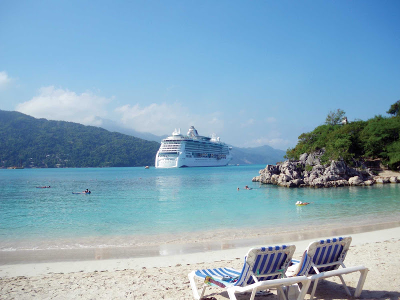 Jewel of the Seas during a shore excursion in Labadee, Royal Caribbean's private resort on the north coast of Haiti.