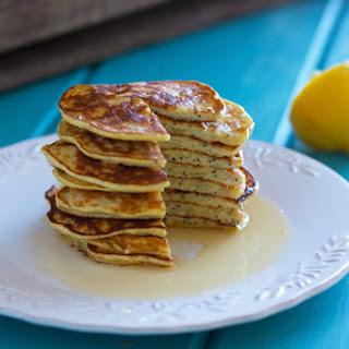 Lemon Poppy Seed Protein Pancakes.