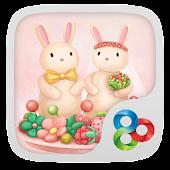 Berry rabbit GO Launcher Theme