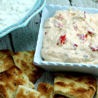 Yogurt Dip with Roasted Red Peppers Recipe