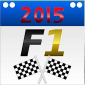 Calendar for Formula 1 2015