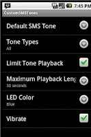 Screenshot of Custom Text Tones for Android
