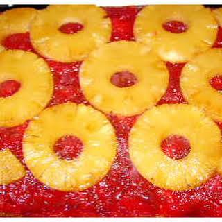 Rhubarb Pineapple Upside-Down Cake.