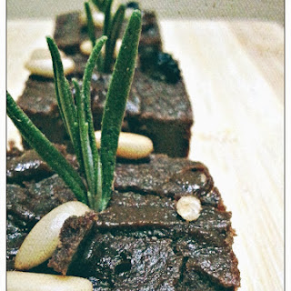 Chocolate Chestnut Castagnaccio Cake.