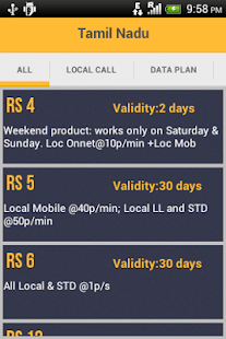 Mobile Recharge Plans - Rates