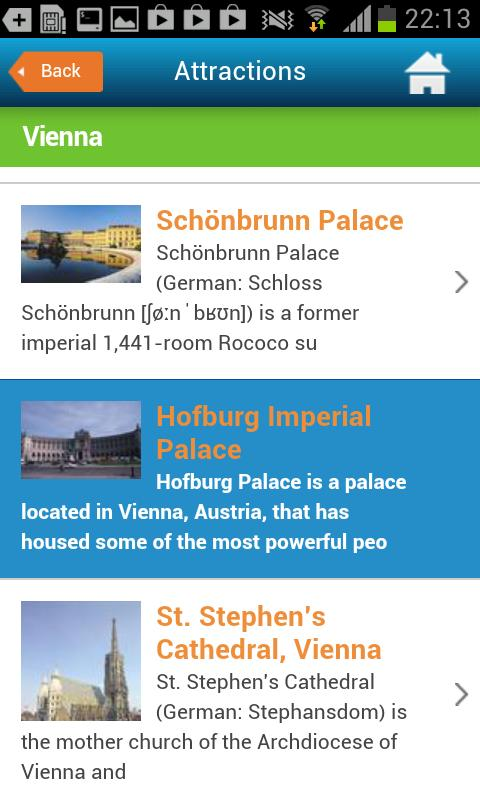 Vienna Guide Hotels Weather - screenshot
