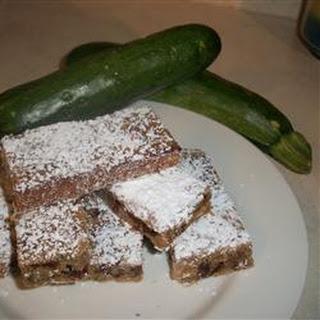 Zucchini Nut Bars