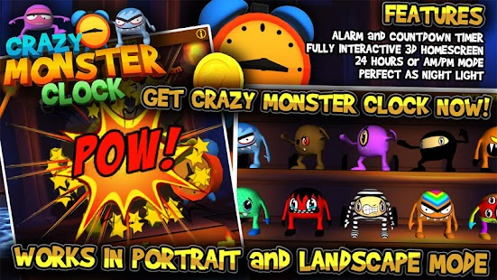 Crazy Monster Clock- screenshot thumbnail