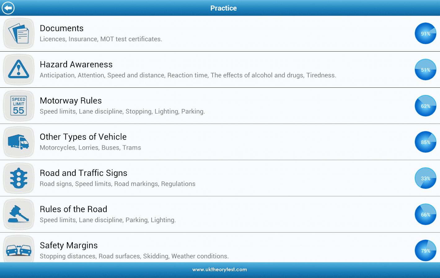 UK Driving Theory Test - screenshot