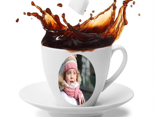 在杯咖啡相框