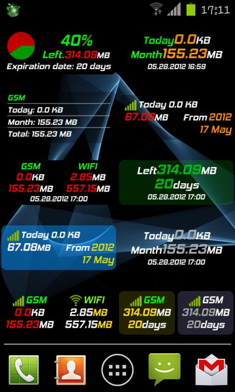 Mobile Counter | Data usage- screenshot